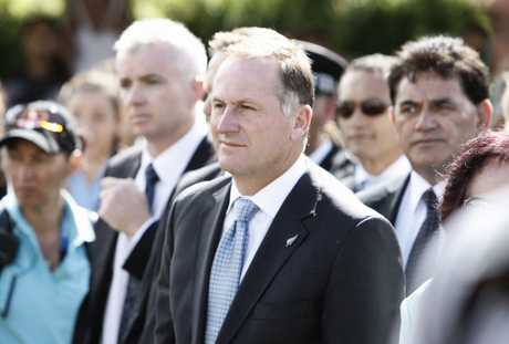 John Key has been welcomed at Waitangi.