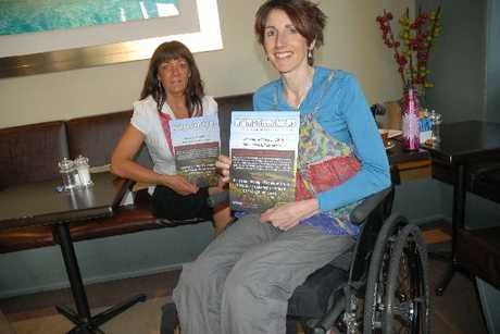 STEPPING OUT: Life coach Maree McManaway of LYF4U, left, and MS survivor Rachelle McIntyre of Alfredton, get ready to blitz Masterton with flyers about the Make Steps for MS event on March 3, raising funds and awareness to help sufferers of multiple sclerosis.