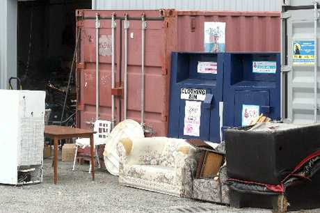 NEEDED: Goods at the back of the Masterton Salvation Army family store.