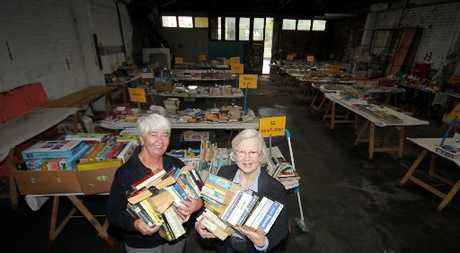 A GREAT STORY: Judy Gilbertson and Shirley McDouall sort the books for the annual Rotary Club Wanganui sale at the weekend.