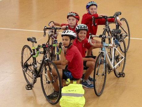 Haumoana School pupils (front to back) Wesley Akeripa, Will Tidswell, Noah and George Barr are big on biking and encourage others to get involved for Bike Wise month. Photo / Glenn Taylor