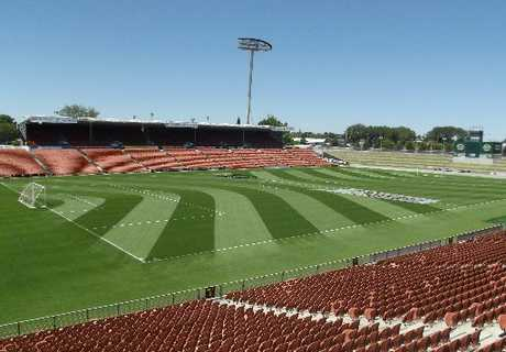 Waikato Stadium was fitted with goalposts, nets and appropriate logos when FIFA representatives of the U20 World Cup tournament came to town last week.