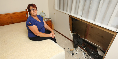 Bette Eavestaff's morning was interrupted when a car crashed into her bedroom.