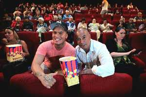 Local boy Stan Walker, alongside co-star Temuera Morrison, treated his family to a showing of his first film Mt Zion which opened in cinemas on Wednesday.