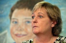 Denise Morcombe at a press conference to discuss Daniel's funeral.