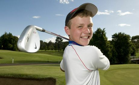 Toowoomba junior golfer Sam Blackshaw is all smiles after shooting a score of 69 at City Golf Club.