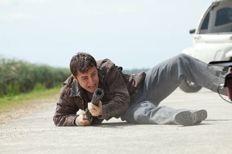 Joseph Gordon-Levitt as Young Joe in Looper.