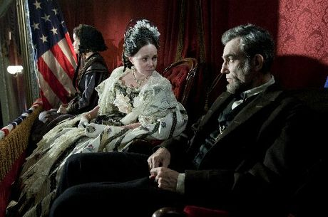 Daniel Day-Lewis plays Lincoln, with Sally Field as his wife.