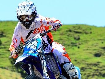 Te Puke's Logan Blackburn (Yamaha YZ125) is determined to improve his national ranking, starting in Timaru this weekend. Photo / Bikesportnz.com