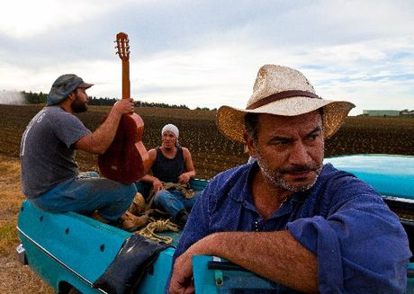 The new Kiwi movie Mt Zion featuring Rotorua's Temuera Morrison (foreground) has proved a huge hit. Photo / Keir Toto