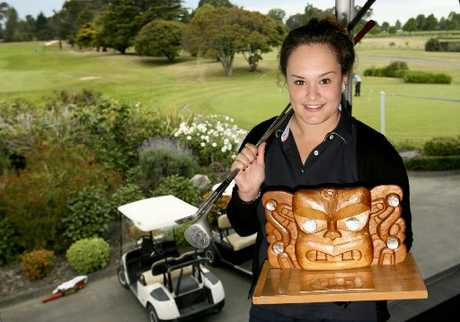 MAORI CHAMPION: Kate Chadwick is relishing her time at the NZ Open.
