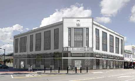 An artist's impression of the Napier Post Office after the proposed changes. Photo / Supplied