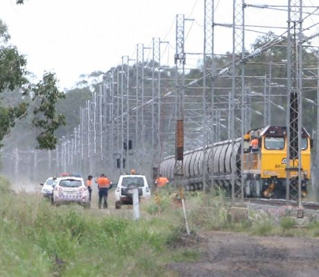 A freight train derailment closed the railway line between Gladstone and Rockhampton on Friday.