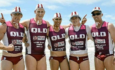 The Mooloolaba crew celebrates its win in the Australian Open Interstate Challenge