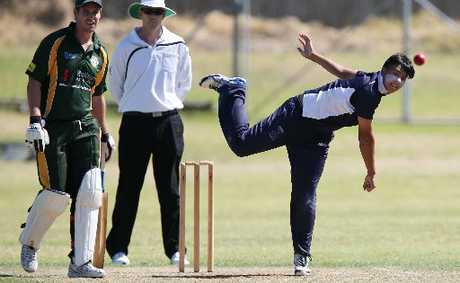 POETRY IN MOTION: James Boyd of Tauranga Boys' College bowls during a Williams Cup match against Mount Maunganui at Blake Park. Mount's Ben Guild is the non-striker.