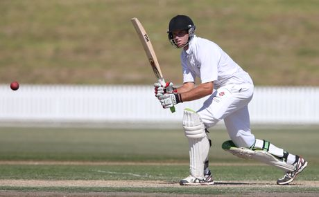 MASTER ALLROUNDER: Bay of Plenty's Brett Hampton top scored with 89 in Bay of Plenty's first innings against Manawatu.