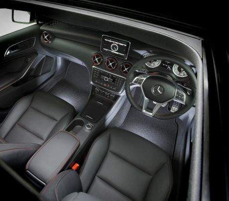 The Mercedes-Benz A 250 Sport interior.
