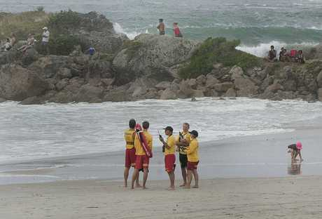 Lifeguards on Mount Maunganui Main Beach.