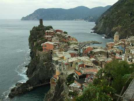 RAINBOW EFFECT: The colourful houses at Vernazza.