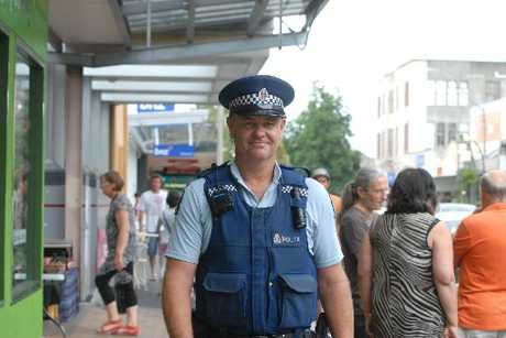 HIGH VISIBILITY: Community Constable Dean Fawcett on the beat in Queen St, Masterton.