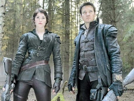 EQUAL PARTNERS: Gemma Arterton (Gretel) and Jeremy Renner (Hansel) in a scene from the movie Hansel &amp; Gretel: Witch Hunters.