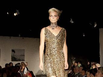 SPARKLING OCCASION: A design from last year&#39;s runway show for Project Promise.