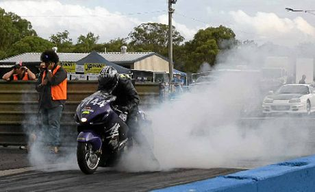 SMOKEY START: Clinton Swalling from Warwick in action in the JP Racing One-Eighth Mile Series round at Warwick Dragway.