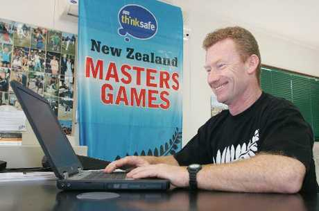 "SATISFACTION: Masters Games manager Mike Cronin relishes ""a great, friendly time.""PHOTO/FILE"