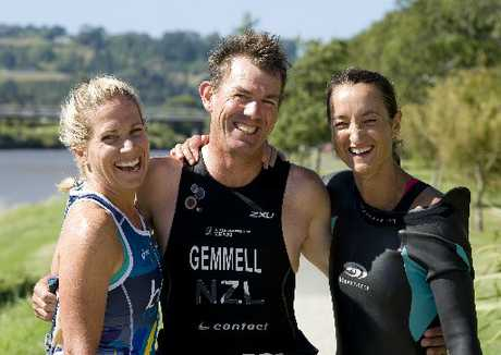 WANGANUI MASTERS: The men&#39;s runner-up and top two women in the New Zealand Masters Games triathlon on Saturday were Rob Gemmell, Laurika Hazelhurst (left) and Margaret Tyson. PHOTOS / RAE CLIFFE