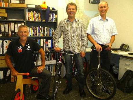 Medical officers of health Dr Phil Shoemack, Dr Neil de Wet and Dr Jim Miller are all preparing for Go by Bike Day.