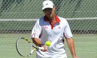 VICTOR: Brett Dymond won both his singles and doubles matches for Opaki.