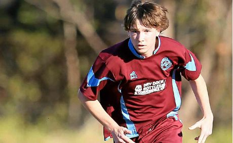 REAL COUP: Local football fans have long been in awe of Alex Thelwall's goal-scoring skills. The youngster is the latest star player to link with Murwillumbah FC.