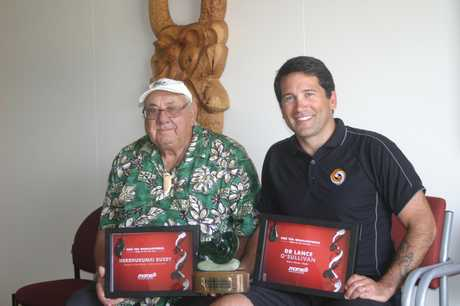 PROUD: Master navigator Hekenukumai Busby (left) and Kaitaia GP Dr Lance O'Sullivan, winners of Maori of the Year awards.