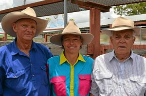 STAR EXHIBITORS: Michael Boucher with Claudia Sibley and Ian Salmon after winning the most successful local prime cattle exhibitor at the Stanthorpe Show.