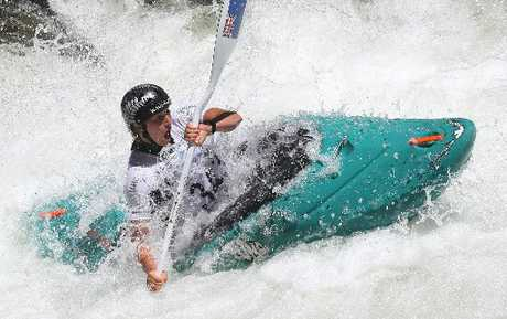 WILD WATER: Tauranga kayaker Luuka Jones in action during the Wairoa Extreme 2013.