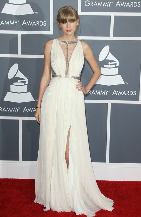 Taylor Swift at the Grammy Awards.