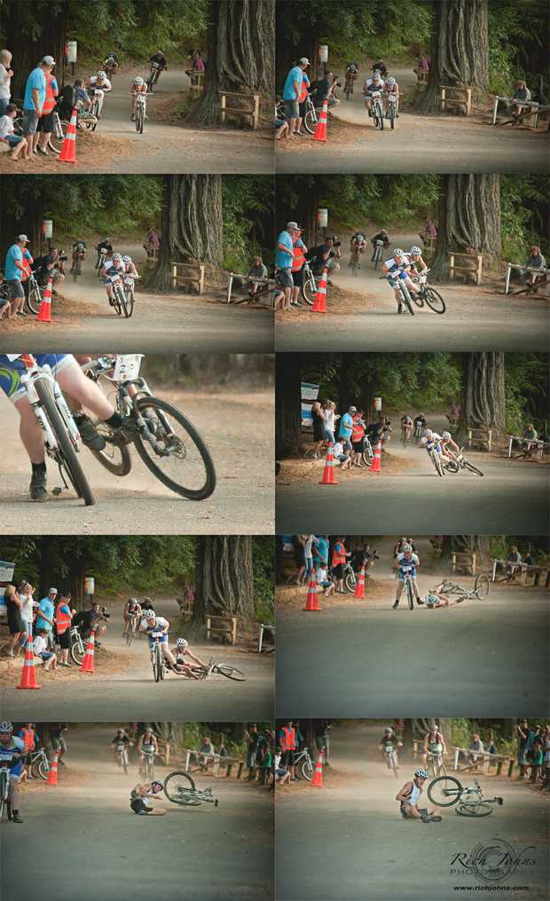 A montage of photos shows Hugh Bootten's fall.