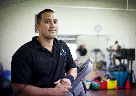 Daniel Goldsmith loves his work with clients using the gym at Te Kupenga Hauora o Ahuriri. Photo / Supplied