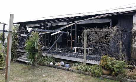 The rear of the Ruakaka home after a gas explosion.