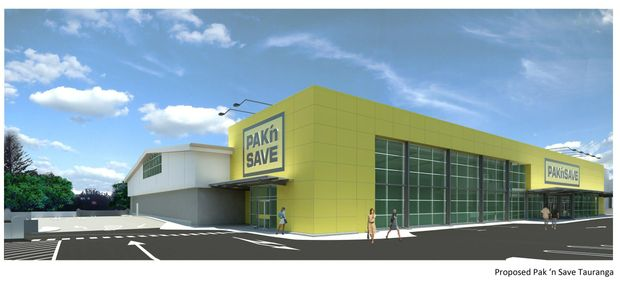 An artist's impression of what Pak'nSave Tauranga will look like once renovations are complete.