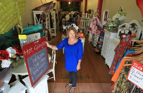 Hot Ginger owner Christine Montgomerie has made a temporary shift, while the shop she was renting is being strengthened.