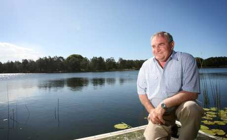 Warren Polgalse at the proposed feature film site at Clarrie Hall Dam