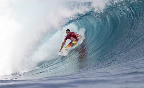 Joel Parkinson on a nice wave in Fiji.