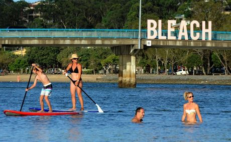 The Bleach opening last night at the Currumbin RSL. Bleach sign over Thrower bridge in Currumbin.