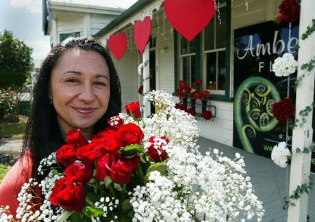 Amber Lee Florists owner Cheryl Mokaraka-Crump has had a busy week in the lead-up to Valentine's Day.