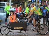 "What better time to bring out an 8ft (2.4m) bicycle known as ""one less car"" than Go By Bike Day?"