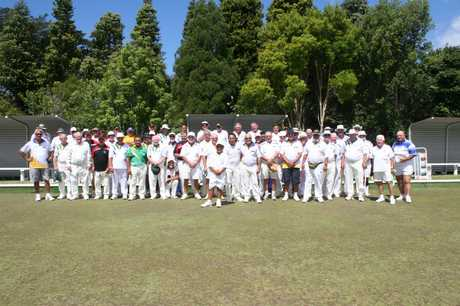 LINEUP: Some of those who took part in the Cowley's Hire Men's 4s at Houhora on Waitangi Day.