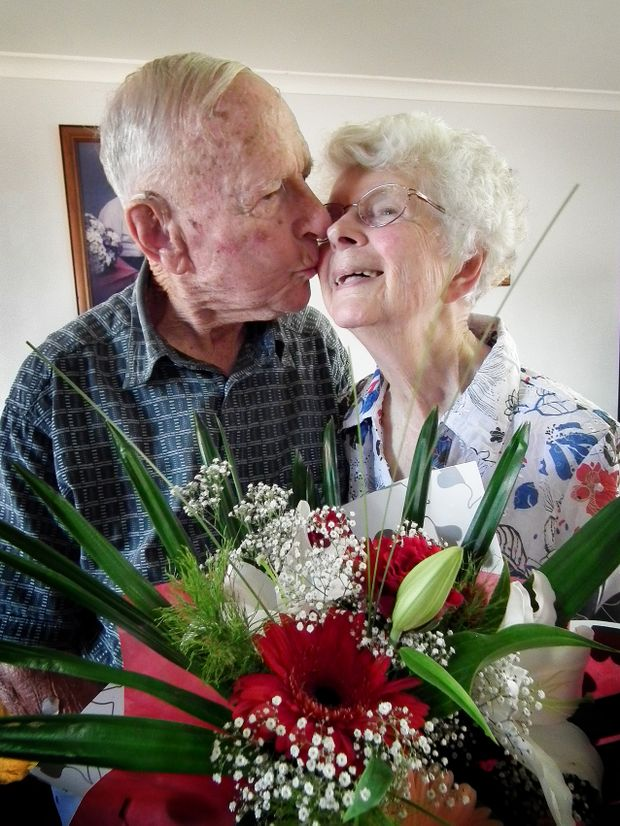 On Valentine's Day 60 years ago, Maryborough's Peter and Barbara Wilkinson became husband and wife.