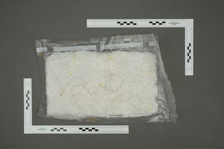 The Class A drug methamphetamine as found by police in a Mount Maunganui storage unit.