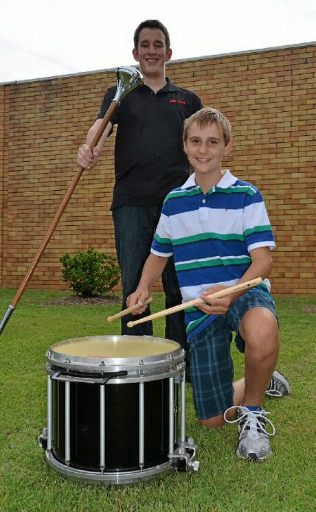 Warwick boys Dominic Andersen-Strudwick and Jacob Chalk are off around the world to participate in band championships.